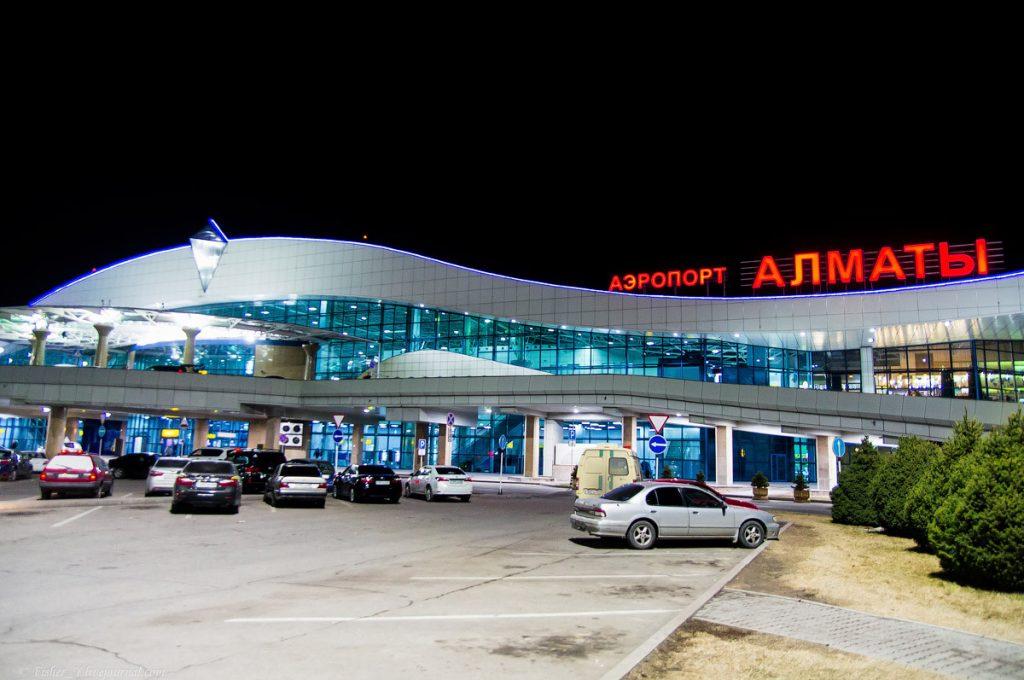 Парковка аэропорта Алматы